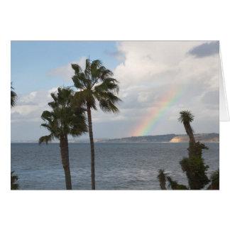 Cartão Arco-íris litoral