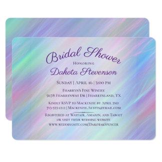 Cartão Arco-íris Pastel iridescente do chá de panela