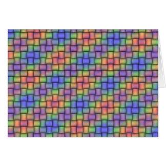 Cartão Arco-íris tecido - cartão, selo & grupo combinados