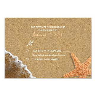 Cartão Areia e praia RSVP dos escudos