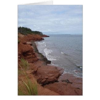 Cartão Areias vermelhas