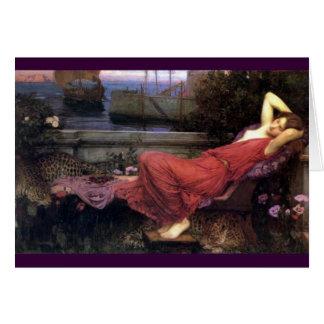 Cartão Ariadne que reclina em um sofá