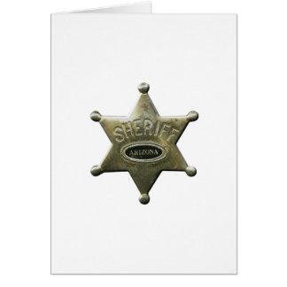 Cartão Arizona do xerife