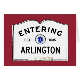 Cartão Arlington entrando