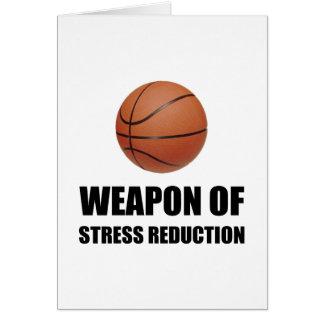 Cartão Arma do basquetebol da redução da tensão