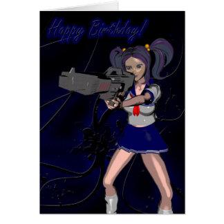 Cartão Arma do feliz aniversario