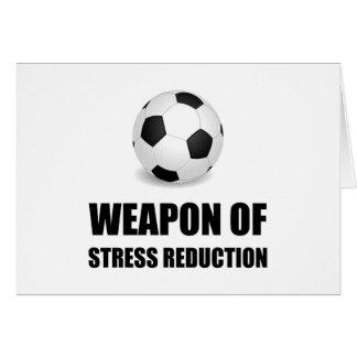Cartão Arma do futebol da redução da tensão