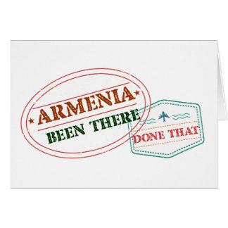 Cartão Arménia feito lá isso