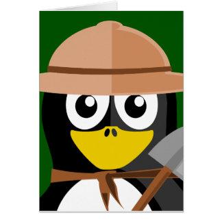 Cartão Arqueólogo do pinguim