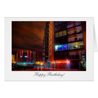 Cartão Arquitectura da cidade da noite - feliz