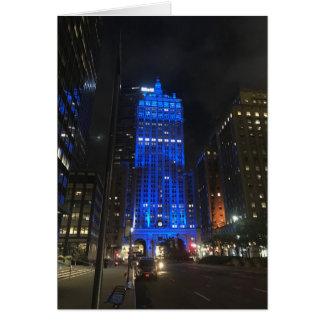 Cartão Arquitetura da foto da noite NYC Park Avenue de