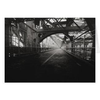 Cartão Arquitetura da ponte de Williamsburg - Nova Iorque