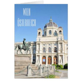 Cartão Arquitetura em Viena, Áustria