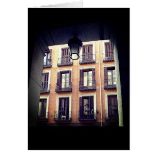 Cartão Arquitetura espanhola Madrid