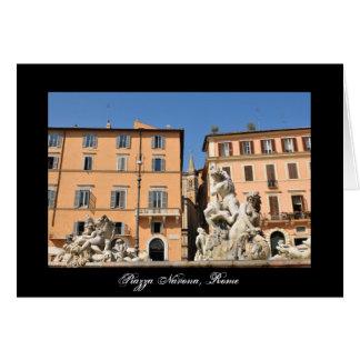 Cartão Arquitetura italiana na praça Navona, Roma, Italia