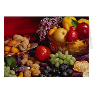 Cartão Arranjo bonito da fruta