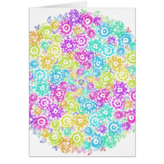 Cartão Arranjo colorido floral