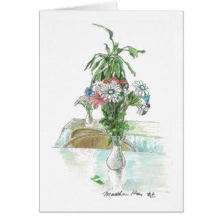 Cartão Arranjo de flor simples