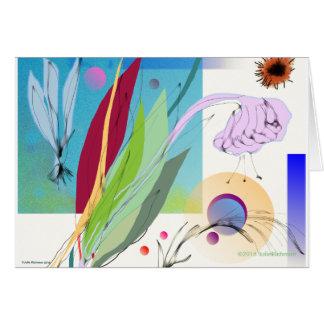 Cartão Arranjo floral abstrato