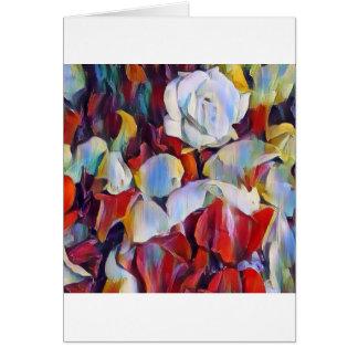 Cartão Arranjo floral do watercolour