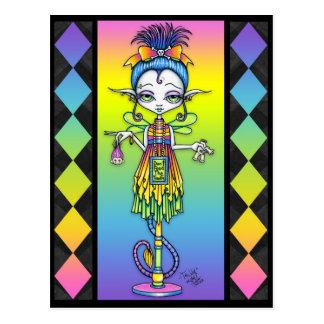 Cartão arrepiante do troll do secundário da vara