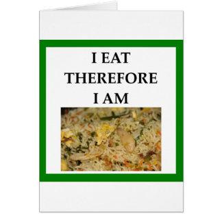 Cartão arroz fritado