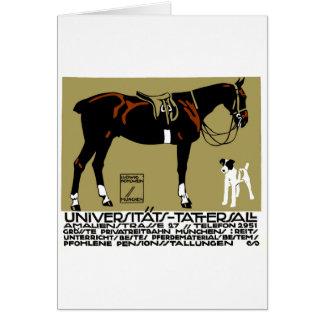Cartão Arte 1912 do poster da equitação de Ludwig
