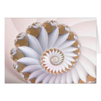 Cartão Arte abstrata bonito do Seashell do nautilus
