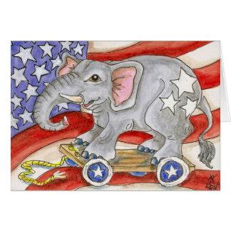 Cartão Arte americana branca vermelha do brinquedo da