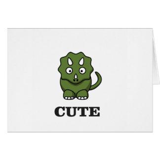 Cartão arte bonito do dinossauro