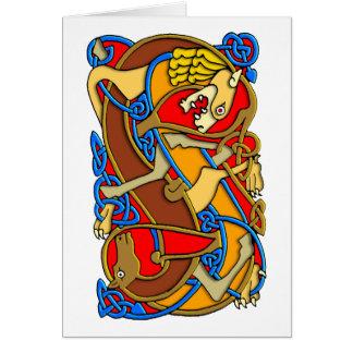 Cartão Arte celta do estilo antigo colorido - grande