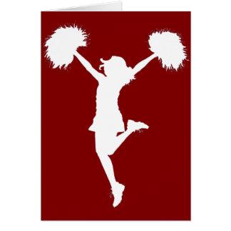Cartão Arte Cheerleading do esboço do cheerleader pelo Al