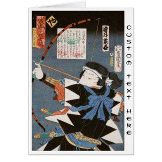 Cartão Arte clássica de Utagawa do arqueiro do kyudo do