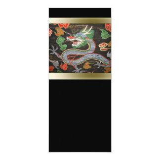 Cartão Arte colorida brilhante asiática do dragão de |