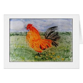 Cartão Arte colorida de Cockeral