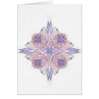 Cartão Arte cor-de-rosa e azul do Fractal do diamante