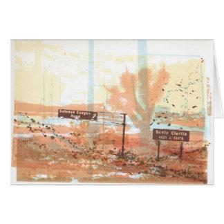 Cartão Arte da árvore de Joshua da autoestrada do vale do