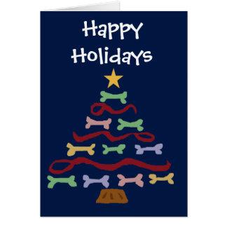 Cartão Arte da árvore de Natal do biscoito de cão do