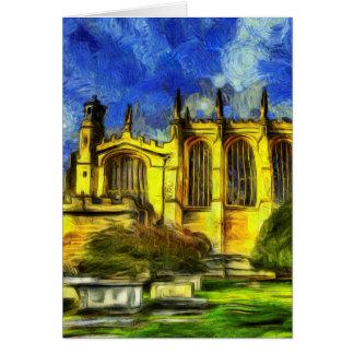 Cartão Arte da capela da faculdade de Eton