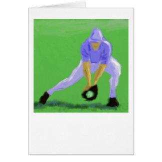 Cartão Arte da captura do basebol