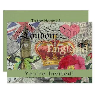 Cartão Arte da colagem do viagem do modelo de Londres