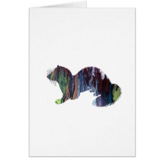 Cartão Arte da doninha