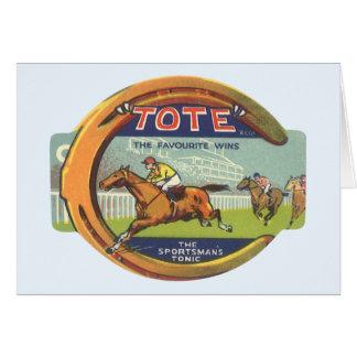Cartão Arte da etiqueta do produto do vintage, o tónico