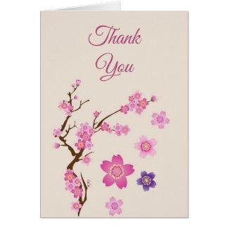 Cartão Arte da flor de cerejeira