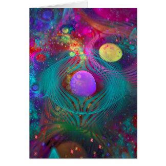 Cartão Arte da galáxia