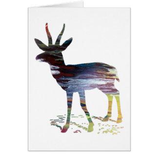 Cartão Arte da gazela