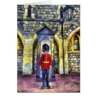 Cartão Arte da guarda de Coldstream