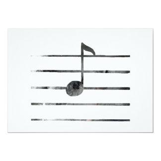 Cartão Arte da nota da música