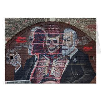 Cartão Arte da rua de Sigmund Freud