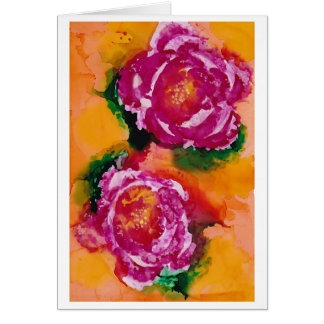"""Cartão """"Arte da tinta do álcool dos rosas selvagens"""" -"""